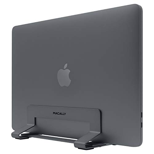 Macally VCSTAND - Supporto in acciaio per MacBook, MacBook Air, MacBook Pro e qualsiasi computer portatile da 0,63' a 1,19'/1,6 cm a 3 cm, colore: Grigio siderale