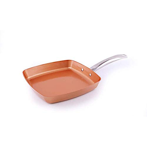Kitchen Frying Pan Square,non-stick Pan,no Fumes,copper Pan,multi-function Induction 26cm
