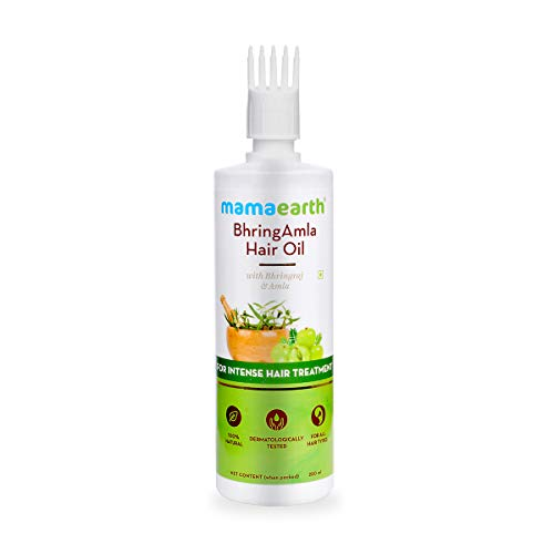 Mamaearth BhringAmla Hair Oil with Bhringraj & Amla for Intense Hair Treatment – 250ml