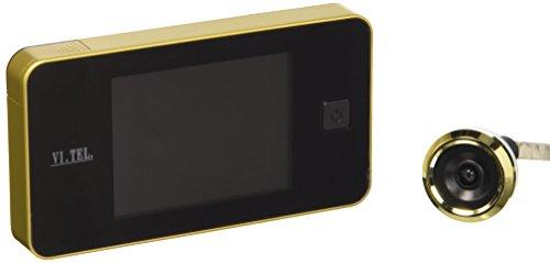 VI.TEL  E0372 40 - Camara visore mirilla para puerta de la laton con pantalla digital (LCD), color dorado