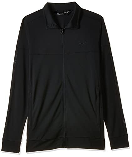 Under Armour Men's Sportstyle Pique Jacket, Black (001)/Black, XXX-Large
