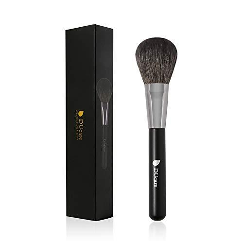 Pinceau de maquillage 1pc, grand fond de laine pinceau blush brosse noir