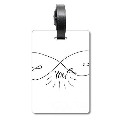 Forever Love You citazione stile valigia tag bagagli biglietto da appendere etichetta scutcheon
