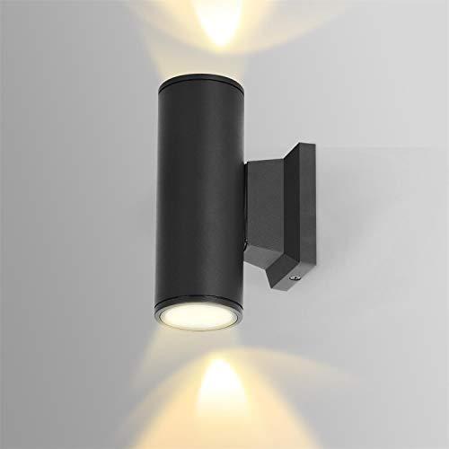 Aigostar Aplique Pared Exterior, GU10 Antracita Aluminio Up Down Lámpara, IP65 Impermeable Luz Exterior Iluminación para Balcón Garaje Terrazas Patio Jardín, color negro 🔥