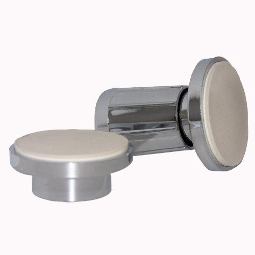 LASCO 03-5053 Adjustable Plastic Ends One Pair Shower Rod Holder, Chrome Plated