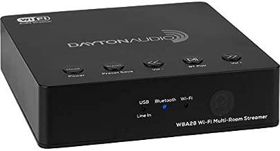 Dayton Audio WBA28 Wi-Fi Bluetooth Multi-Room Streamer with IR Remote and App Control