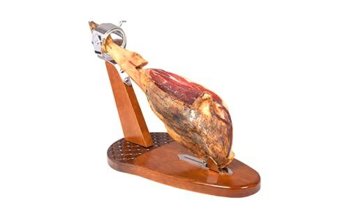 Loubren Ham-06 Jamonero SemiProfesional, Cabezal Giratorio Reclinable + Cuchillo y Chaira
