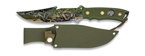 Albainox - 32290- Cuchillo 3D Soldier. H.9.8. Herramienta para Caza, Pesca, Camping, Outdoor, Supervivencia y Bushcraft
