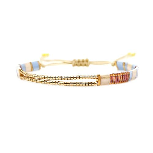 XHJLNNY XINHEJULN Pulsera de la Amistad Regalo para Mujer Lifting Bead Jewelry Pulsera de Moda Duradero. (Color : TL B190038C)