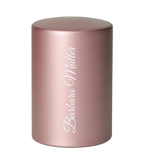 Uakeii Abridor de botellas de cerveza personalizado con grabado de aluminio, diseño de acero inoxidable (rosa)