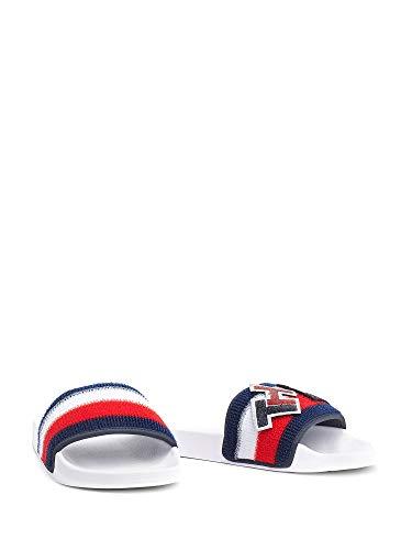 Tommy Hilfiger FW0FW04629 Customize Slide Dames-sandalen White Blue