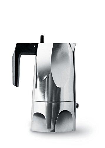 Alessi Ossidiana - Cafetera (aluminio, asa de resina termoplástica negra)