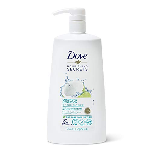 Dove Nourishing Secrets Conditioner with Pump for Dry Hair Coconut and Hydration with Lime Scent with Nutritive Deep Conditioner Serum 25.4 oz