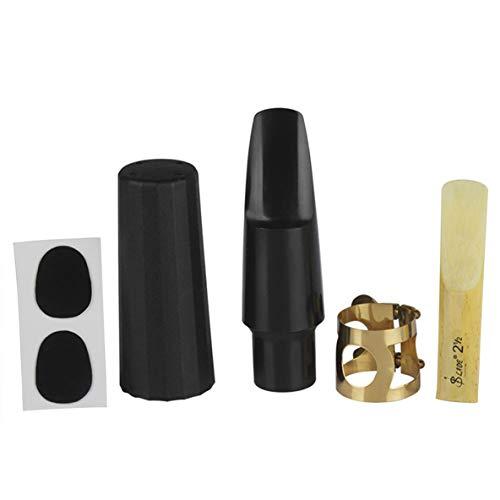 Rouku 5 Stück Tenorsaxophon Mundstück Set Musikinstrument Ersatzwerkzeug