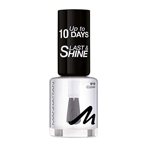 Manhattan Last und Shine Nagellack, Nr.10 Clear, 1er Pack (1 X 8 ml)