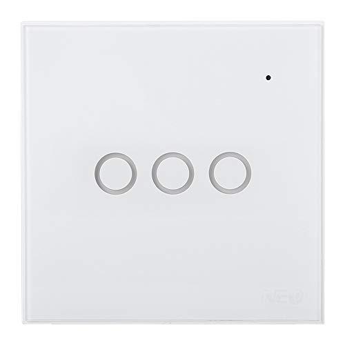 Sensor de Puerta Alarma para Puerta Interruptor Táctil De Luz Remoto WiFi Inteligente para El Hogar (3gang)