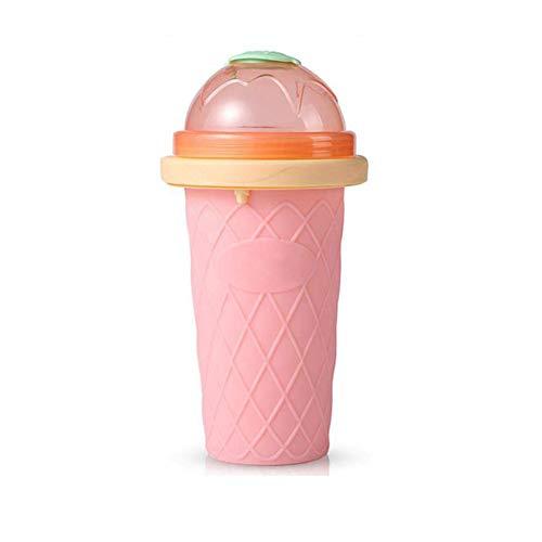 ESF Taza de batido de Silicona, Taza de enfriamiento rápido Botellas de batido, máquina para Hacer Helados casera, Botella para Hacer granizados de Hielo Vaso de Agua para niños
