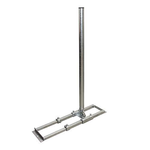 PremiumX Profi X100-48F SAT Dachsparrenhalter 100cm Mast 48mm Stahl voll feuerverzinkt Sparren-Halterung für Satelliten-Antenne Satellitenschüssel