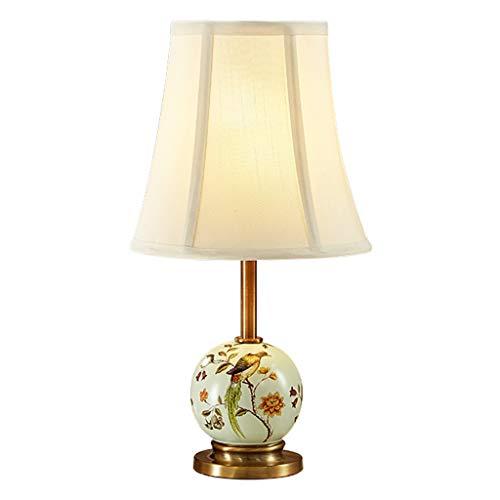 Lámparas de noche Sencilla lámpara de mesa de cerámica creativa Dormitorio Lámpara de cabecera Sala de estar Estudio Lámpara de mesa Tres modos de interruptor Lámpara de mesa de noche (Color : B)