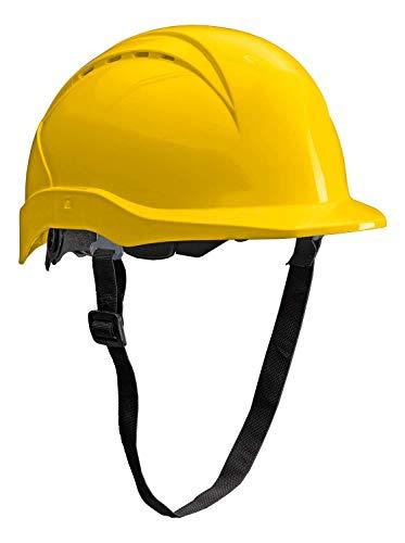 ACE Patera Bauhelm - Belüfteter Schutzhelm für die Baustelle - EN 397 - Gelb