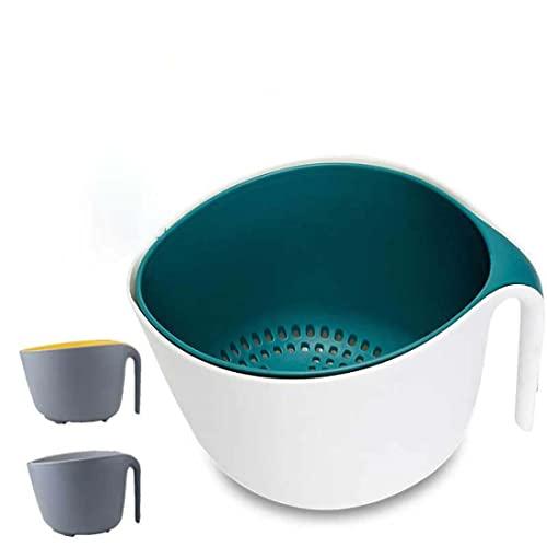 Jiangchenxi Accesorio de cocina con filtro de plástico, colador de verduras, cesta de malla colador, utensilios de cocina de calidad alimentaria