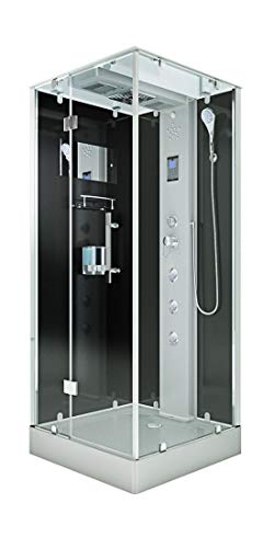 AcquaVapore DTP6038-3302L Dusche Dampfdusche Duschtempel Duschkabine 90x90 MIT 2K Scheiben Versiegelung