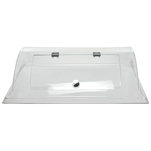 """Cal-Mil Rectangular Clear PETG Dome Cover with Door - 26""""L x 20""""W x 7 1/2""""H"""