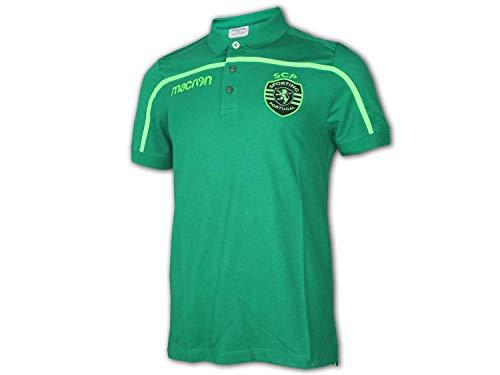 Macron Sporting Lissabon Poloshirt grün Sporting Clube de Portugal Fan Jersey, Größe:L