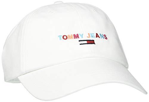 Tommy Hilfiger Tjw Sport Cap Embroidered Gorra de béisbol, Blanco (Classic White Ya2), Talla Única (Talla del Fabricante: OS) para Mujer