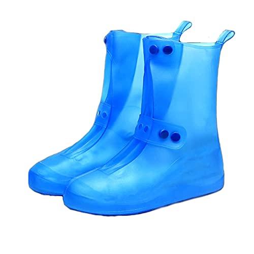Kalosze-Nieprzemakalne Kalosze JIAYU Wodoodporne Kalosze, Kalosze Odpowiednie Do Jazdy Na Rowerze I Chodzenia, Lekkie Buty Gumowe Dla Mężczyzn I Kobiet (Color : Blue, Size : 36/37)