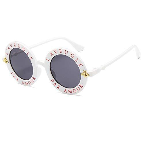 NBJSL Gafas De Sol Para Mujer Gafas De Sol Redondas De Cara Pequeña (Exquisita Caja De Embalaje)
