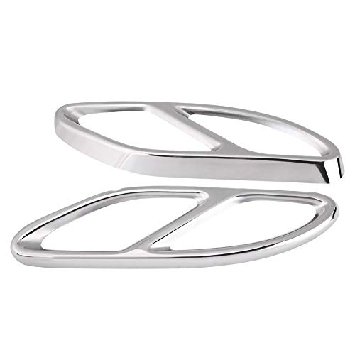 Cache-tuyau d'échappement pour Delaman Garnitures Argent pour Mercedes-Benz GLC Classe E C207 Coupé 14-17 1 Paire (Couleur : Argent)