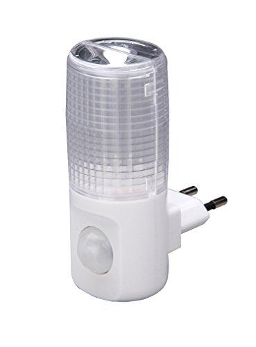 UNITEC Orientierungslicht LED m.BewM/Dämmerungss ws, Plastik, 0.4 W, weiߟ, 18 x 12.1 x 8 cm