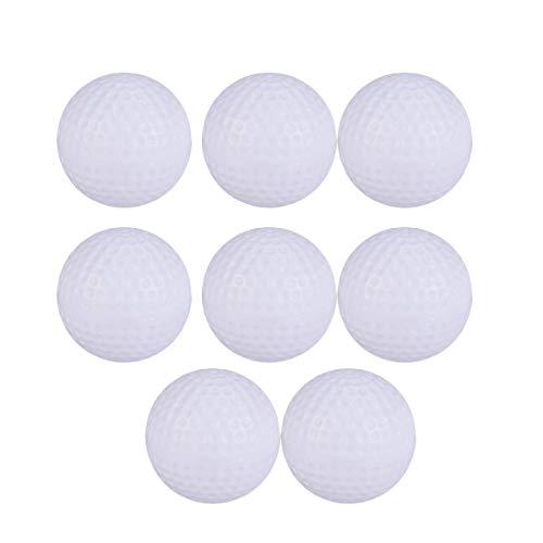 Toyvian 8 Stück Plastikgolfbälle Golfübungsübungen Sportbälle Indoor Outdoor Golfbälle Spielzeug für Kinder Kinder Weiß