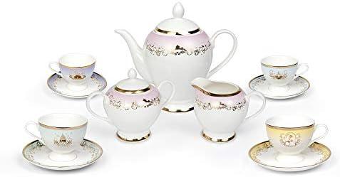 Robe Factory LLC Disney Princess 13 Piece Ceramic Tea Set Disney Tea Party Gift Set product image