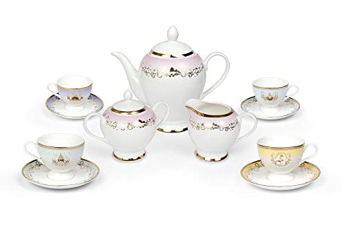 Robe Factory LLC Disney Princess 13-Piece Ceramic Tea Set   Disney Tea Party Gift Set