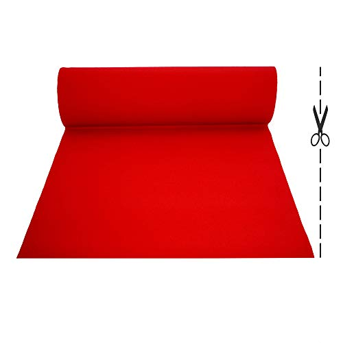 OLIVO.Shop | Tappeto passatoia Rosso Nuziale Natalizio per Matrimonio Cerimonia Evento Negozi (Rosso 2 x 12 mt)