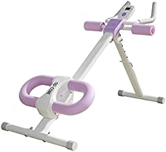 Ab Trainer Core & Abdominal Trainers AB Workout Machine Home Gym Strength Training Waist Cruncher Core Toner Buttocks Shaper with LCD Monitor Pink
