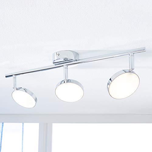 Lindby LED Deckenlampe 'Keylan' (Modern) in Chrom aus Metall u.a. für Wohnzimmer & Esszimmer (3 flammig, A+, inkl. Leuchtmittel) - Deckenleuchte, Wandleuchte, Strahler, Spot, Lampe, Wohnzimmerlampe