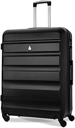 Aerolite Large 29' Lightweight ABS Hard Shell Travel Hold Check in Luggage Suitcase 4 Wheels with Built in TSA Combination Lock, Black