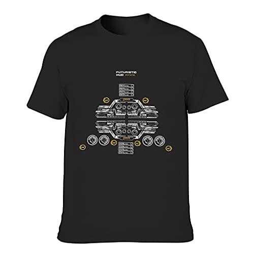 Code 3D Kreativ Männer T-ShirtsRundhalsausschnittTee O-Neck Rundhals T-Shirt Grafik DruckenT-Stücke Army Green l