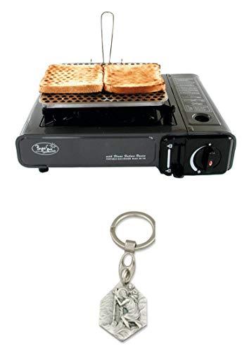 Zisa-Kombi Toaster für Kartuschenkocher (93298870659) mit Anhänger Herz Jesu 2,5cm