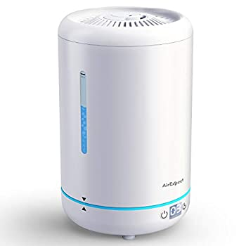 AirExpect Cool Mist Humidifier for Bedroom – Top Filling Air Humidifier with BPA Free Ultrasonic Whisper-Quiet Easy Clean & Max 24h Usage 3.5L Large Capacity for Dry Cough Nose Skin & Eyes
