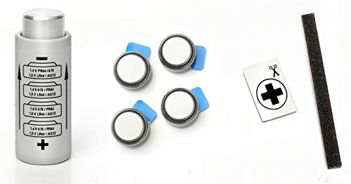 Yashica Electro 35 (G, GL, GT, GS, GSN, GTN), AX SLR y MG1. - Adapter + 4 Batteries Button 1,4V Zinc Air + Kit