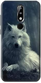 R1516 White Wolf Case Cover for Nokia X5, Nokia 5.1 Plus