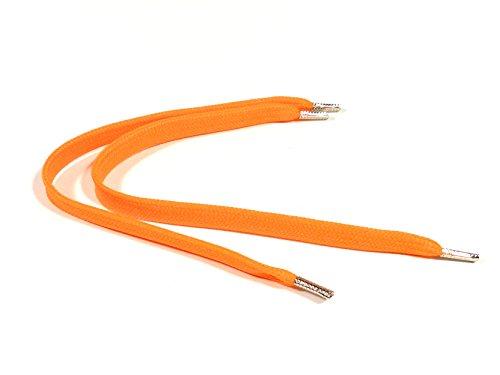 REMA 1 Paar Schnürsenkel Neon Orange - flach - breit - bis 500 cm Länge (95 cm, Neon Orange)