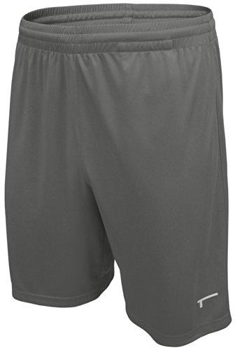 TREN Herren COOL Ultra Lightweight Polyester Short Sporthose ohne Seitentaschen Dunkelgrau 020 - L