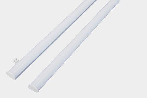 DecoProfi Paneelwagen Set Klemmtechnik/Gleiter für Flächenvorhang/Stoffpaneele für 6 mm Innenlauf, Aluminium, weiß, Breite 60 cm