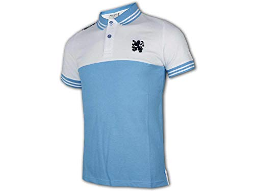 Macron 1860 München Kinder Poloshirt blau 1860 Polo Jersey Junior Fanshirt Löwen, Größe:140