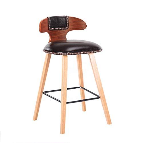 TT&D AGLZWY multifunctionele barstoel, van massief hout, inklapbaar, rugleuning, antislip, achterkant barkruk, hoge kruk, kleur: rood, afmetingen: 35 x 43 x 81 cm 35X43X81cm Gtaglzwx6306r-7